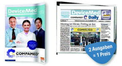 Grafik: Cover von COMPAMED Preview und COMPAMED daily