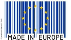 "Foto: EU-Stern mit Text ""Made in Europe"""